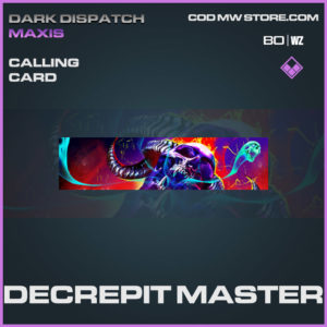 Decrepit Master calling card in Warzone and Cold War