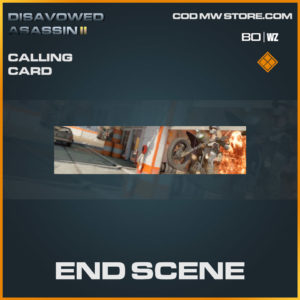 End Scene calling card in Warzone and Cold War