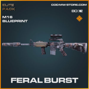 Feral Burst M16 blueprint skin in Warzone and Cold War