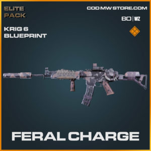 Feral Charge Krig 6 blueprint skin in Warzone and Cold War