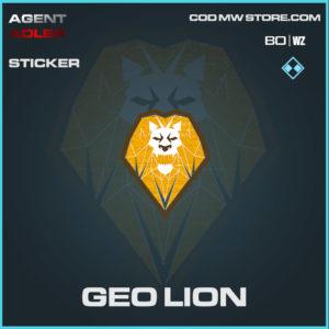 Geo Lion sticker in Warzone and Cold War