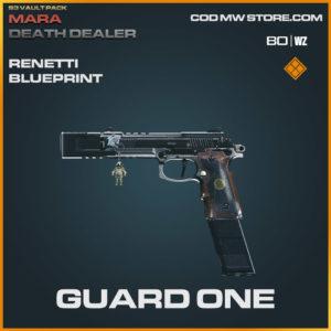 Guard One Renetti blueprint skin in Warzone and Modern Warfare