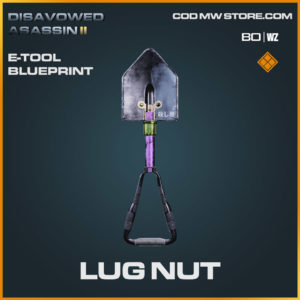 Lug Nut E-Tool blueprint skin in Warzone and Cold War