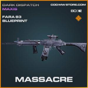 Massacre Fara 83 blueprint skin in Warzone and Cold War