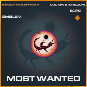 Most Wanted emblem in Warzone and Cold War
