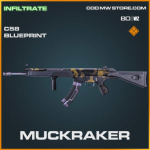 Muckraker C58 blueprint skin in Warzone and Cold War