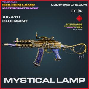 Mystical Lamp ak-47u blueprint skin in Warzone and Cold War