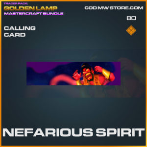 Nefarious SPirit calling card in Warzone and Cold War