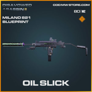 Oil Slick Milano 821 blueprint skin in Warzone and Cold War