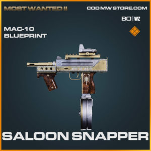 Saloon Snapper MAC-10 blueprint skin in Warzone and Cold War