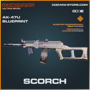 Scorch AK-47u blueprint skin in Warzone and Cold War