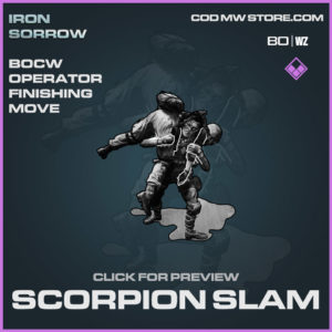 scorpion slam bocw operator finishing move in Warzone and Cold War