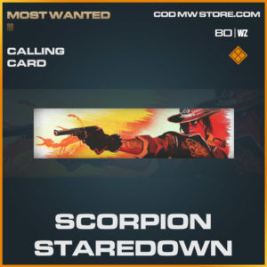 Scorpion Staredown calling card in Warzone and Cold War