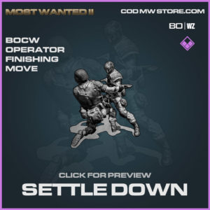Settle Down Finishing move in Warzone and Cold War