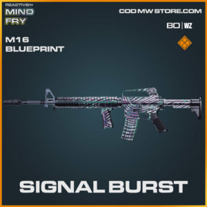 Signal Burst m16 blueprint skin in Warzone and Cold War