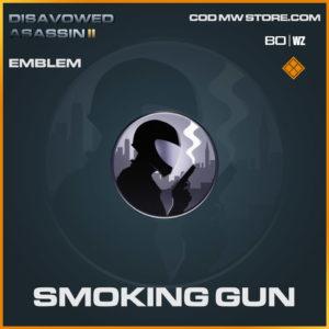 Smokign Gun emblem in Warzone and Cold War