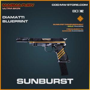 Sunburst DImatti blueprint skin in Warzone and Cold War