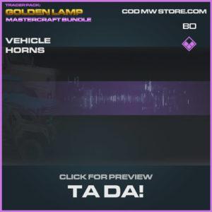 Ta Da! Vehicle horns in Warzone and Cold War