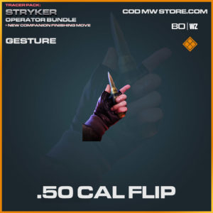 .50 Cal Flip gesture in Warzone and Cold War