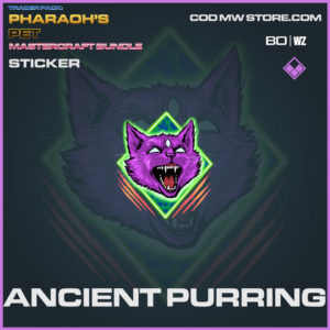 Ancient Purring sticker in Warzone and Cold War