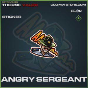 Angry Sergeant sticker in Warzone and Modern Warfare