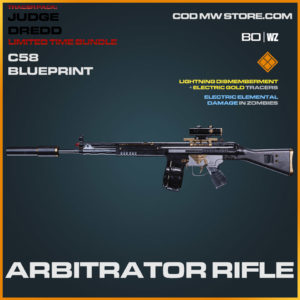Arbitrator Rifle C58 blueprint skin in Warzone and Cold War