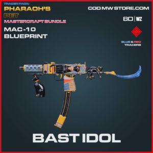 Bast Idol Mac-10 blueprint skin in Warzone and Cold War