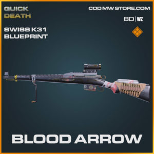 Blood Arrow Swiss K31 blueprint skin in Warzone and Cold War