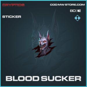 Blood Sucker sticker in Warzone and Cold War