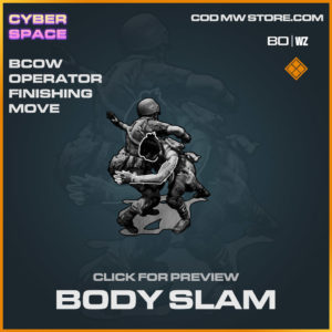Body Slam Operator finishing move in Warzone and Cold War