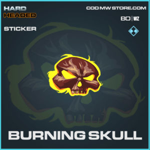 burning skull sticker in Warzone and Cold War
