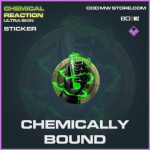 Chemically Bound sticker in Warzone and Cold War