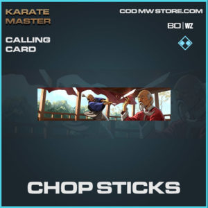 Chop Sticks calling card in Warzone and Cold War