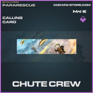 Chute Crew calling card in Warzone and Modern Warfare