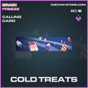 Cold Treats calling card in Warzone and Cold War