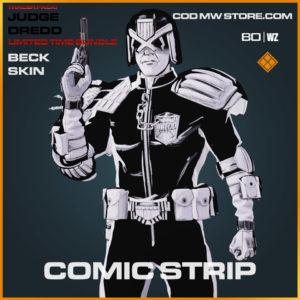 Comic Strip Beck Skin Judge Dredd in Warzone and Cold War