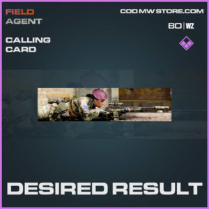 Desired Result calling card in Warzone and Cold War