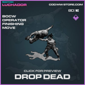Drop Dead Finishing Move in Warzone and Cold War