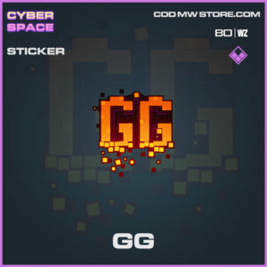 GG sticker in Warzone and Cold War