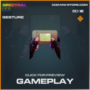 Gameplay Gesture in Cold War and Warzone