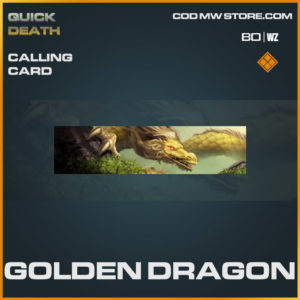 Golden Dragon calling card in Warzone and Cold War