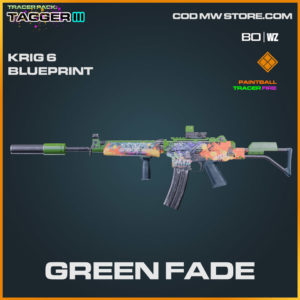 Green Fade Krig 6 blueprint skin in Warzone and Cold War