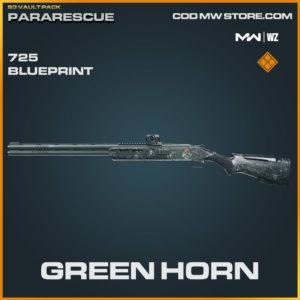 Green Horn 725 blueprint skin in Warzone and Modern Warfare