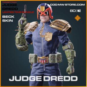 Judge Dredd Beck Skin in Warzone and Cold War