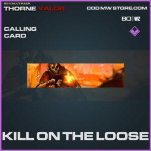 Kill on the Loose calling card in Warzone and Modern Warfare