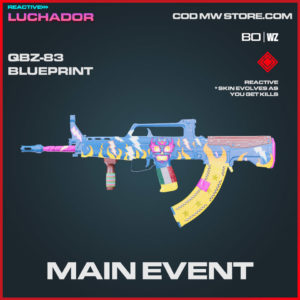 Main Event QBZ-83 blueprint skin in Warzone and Cold War