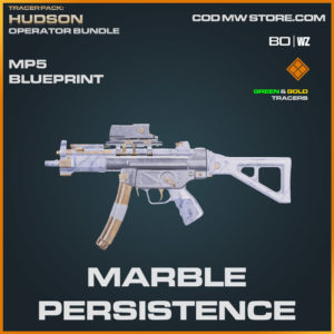 Marble Persistence MP5 blueprint skin in Warzone and Cold War