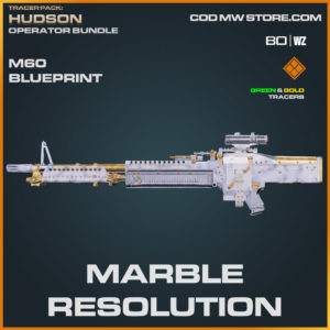 Marble Resolution M60 blueprint skin in Warzone and Cold War