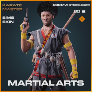 Martial Arts sims skin in Warzone and Cold War