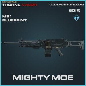 Mighty Moe m91 blueprint skin in Warzone and Modern Warfare